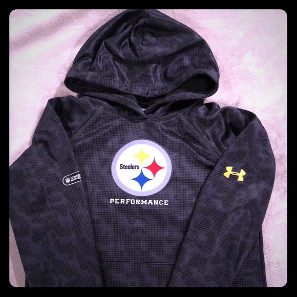 watch 4961d 0445b Youth Boys Under Armour Steelers Hoodie.